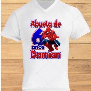 camisetas de cumpleaños Spiderman