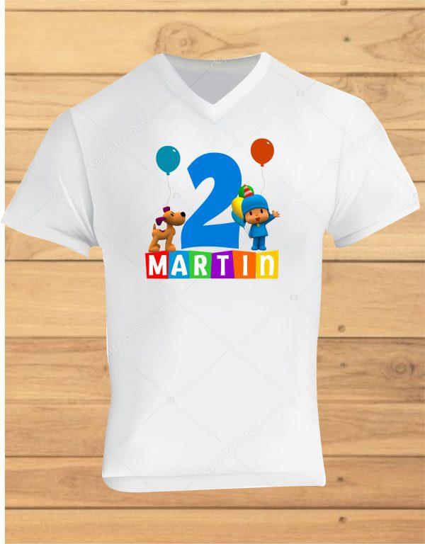 camisetas de cumpleaños pocoyo