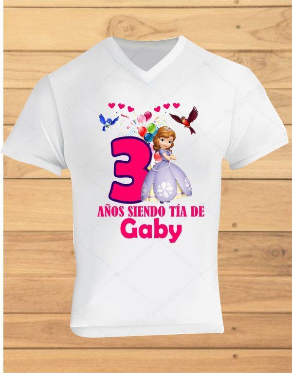 camisetas de cumpleaños princesa sofia