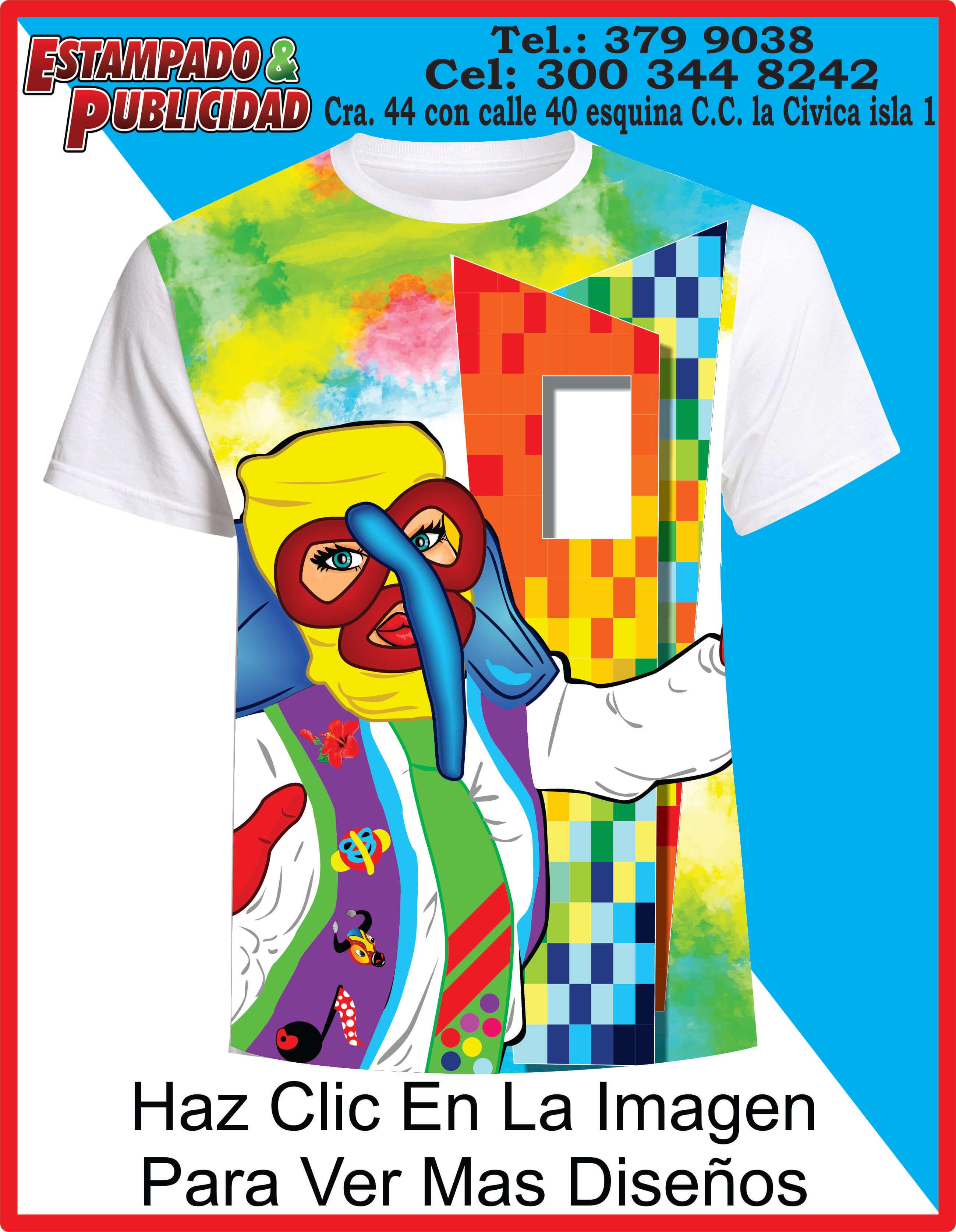 2f4a3049d73 Camisetas de carnaval 2019 ventana al mundo - Estampado y Publicidad