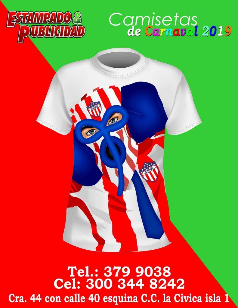 camisetas de carnaval junior