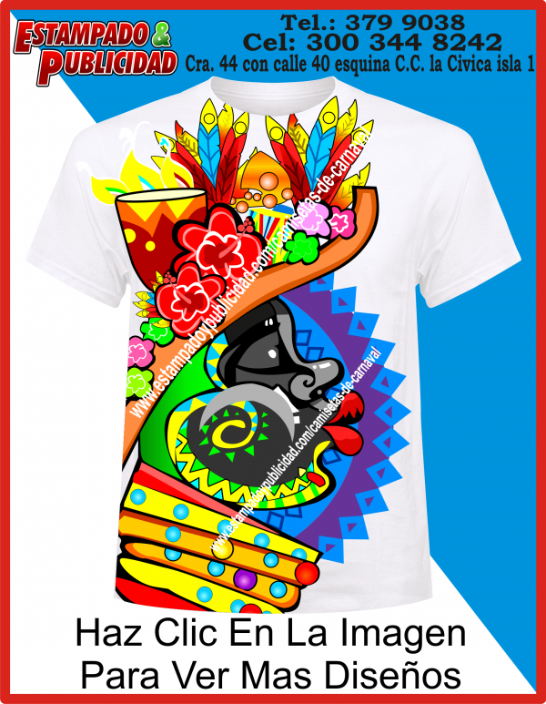 Camisetas De Carnaval Colorida
