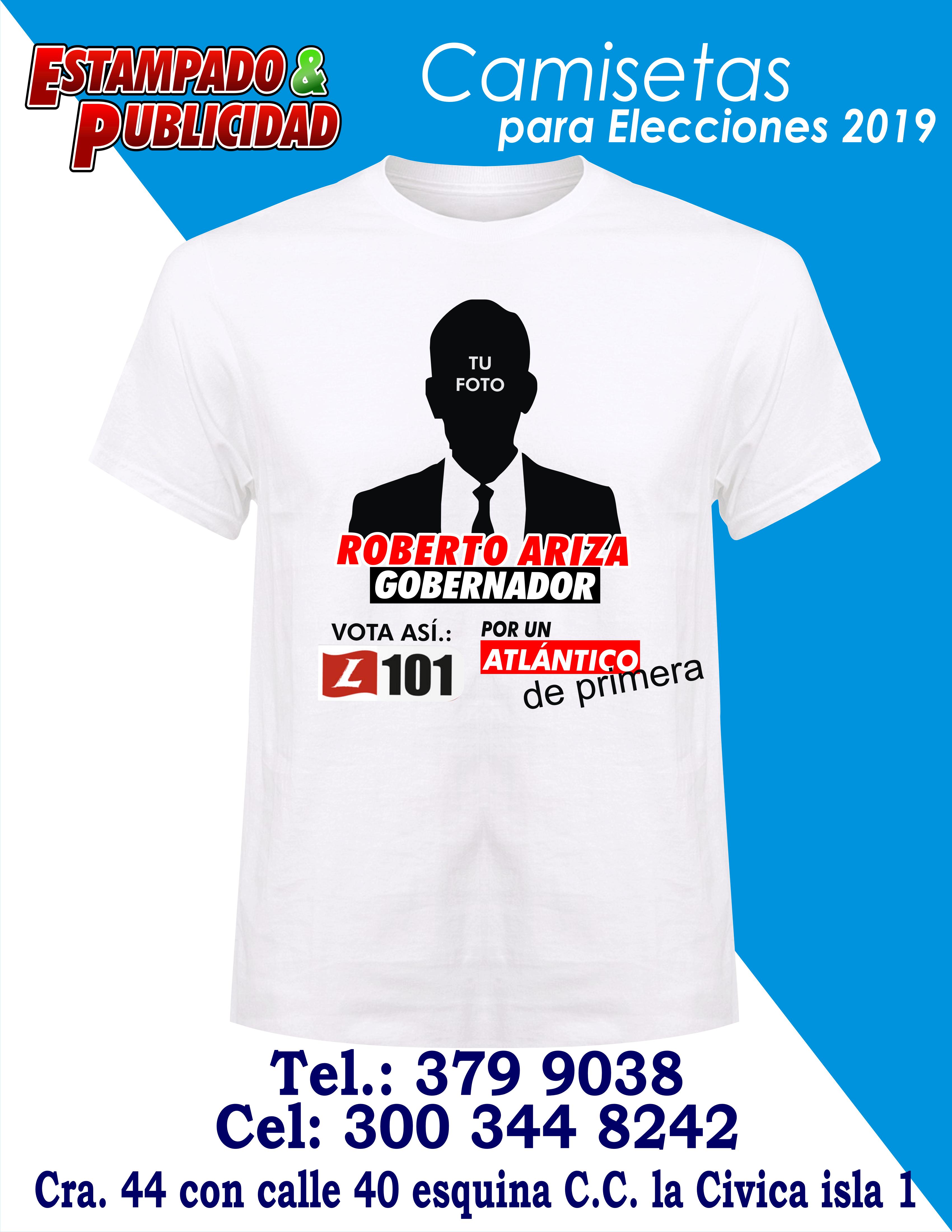 91e7f14e334 Camisetas para campañas políticas 5 - Estampado y Publicidad